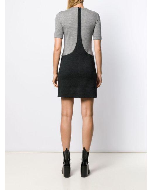 Givenchy バイカラー Tシャツワンピース Black