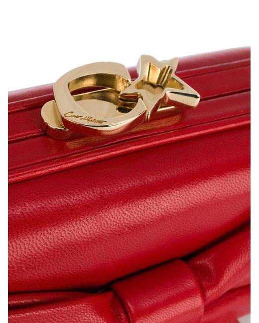 Clutch Susan Corto Moltedo Bow Red Lyst In 54ARLq3j
