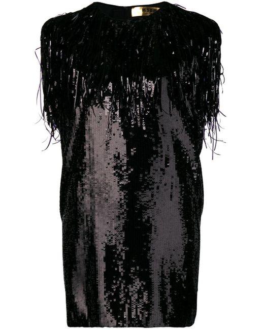 MSGM スパンコール ドレス Black