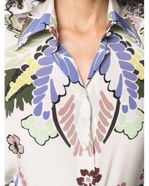 Blusa a fiori di Valentino in Multicolor