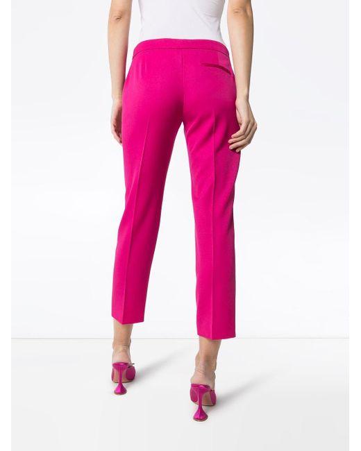 Укороченные Брюки Строгого Кроя Alexander McQueen, цвет: Pink