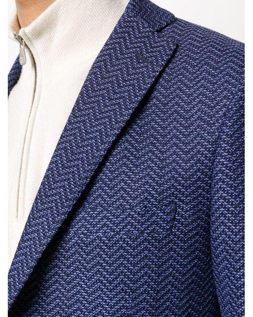 Однобортный Пиджак С Геометричным Принтом Tonello для него, цвет: Blue