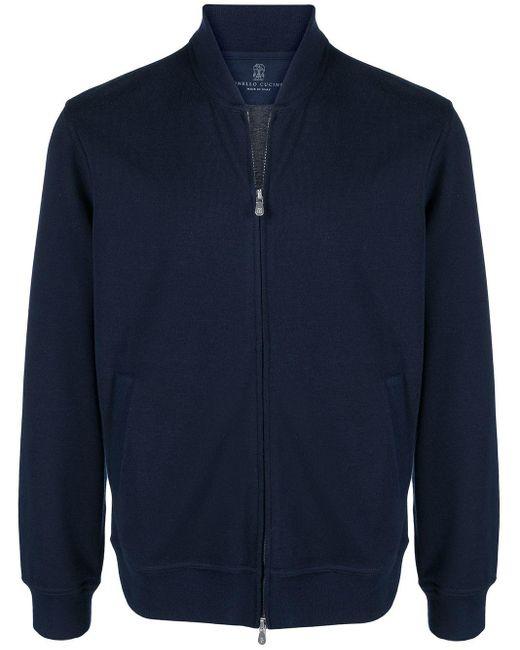 メンズ Brunello Cucinelli ボンバージャケット Blue