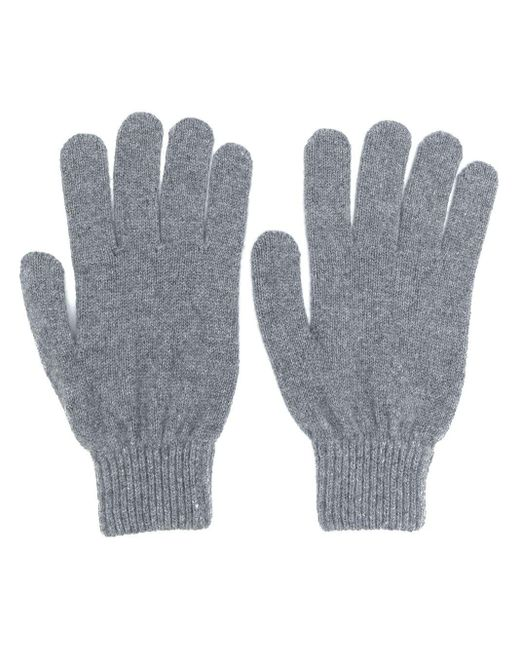 Fitted Knitted Gloves Paul Smith для него, цвет: Gray