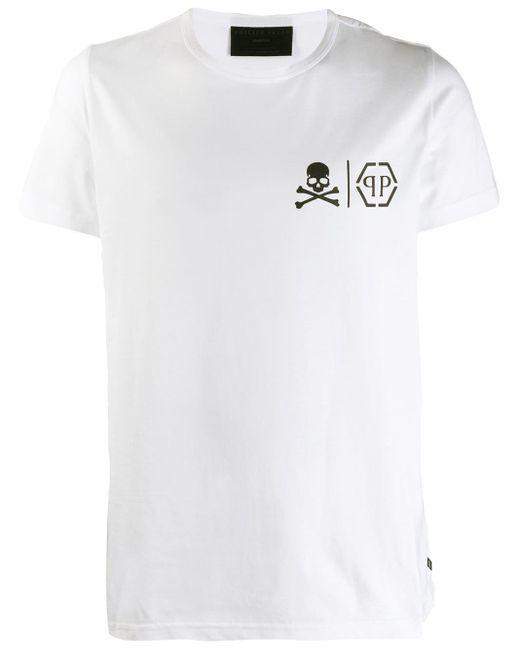 メンズ Philipp Plein Statement Tシャツ White