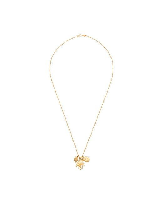 Marte Frisnes - Gold Metallic Hannah Sterling Silver Charm Necklace - Lyst