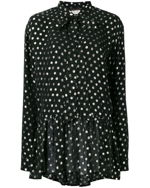 Платье Мини Lavaliere Saint Laurent, цвет: Black