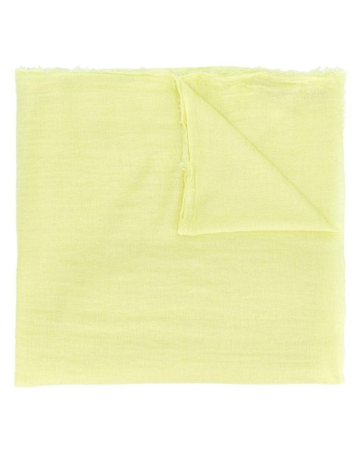 Rick Owens フレイド スカーフ Yellow