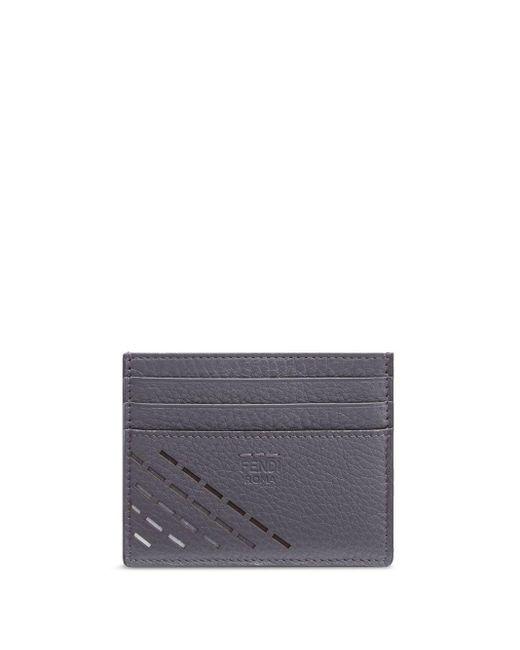 メンズ Fendi カードケース Black