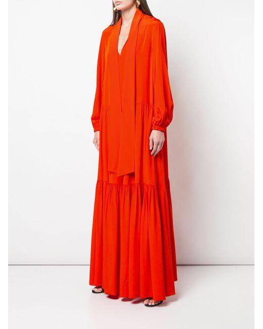 Tibi ラッフルドレス Orange
