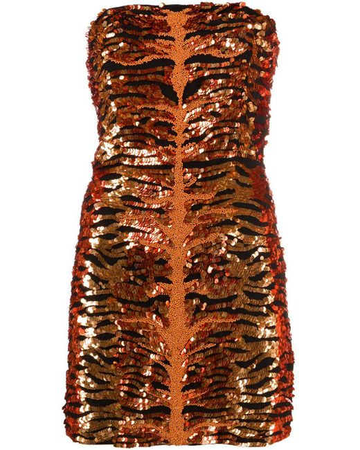 Vestido corto Aurora retroféte de color Orange