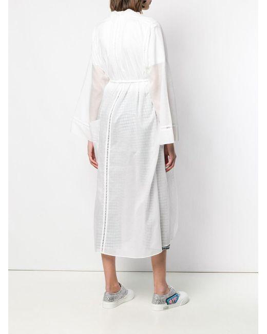 Кардиган-пальто С Геометричным Узором Tsumori Chisato, цвет: White
