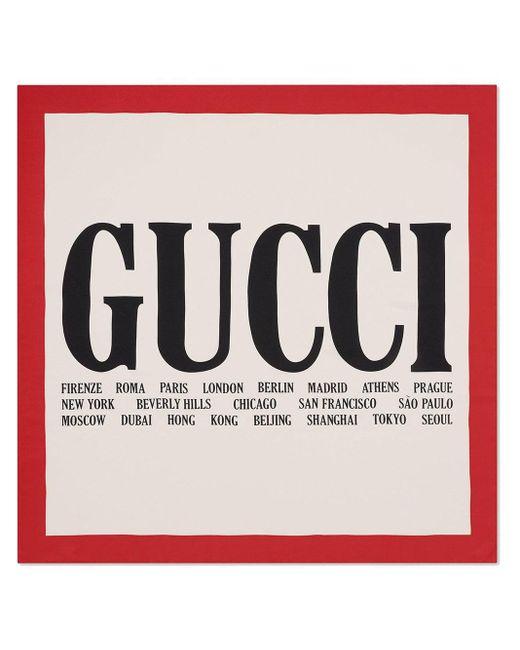 Gucci グッチ シティ プリント スカーフ Multicolor