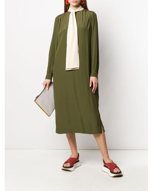 Robe à col à lavallière Marni en coloris Green
