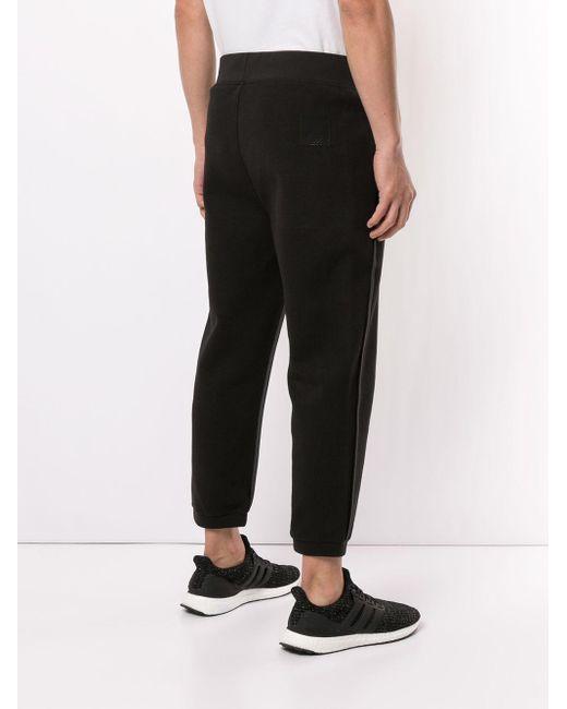 Pantalones de chándal con franjas laterales Neil Barrett de hombre de color Black