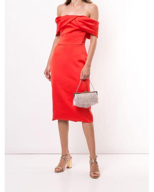 Saiid Kobeisy オフショルダー ドレス Red