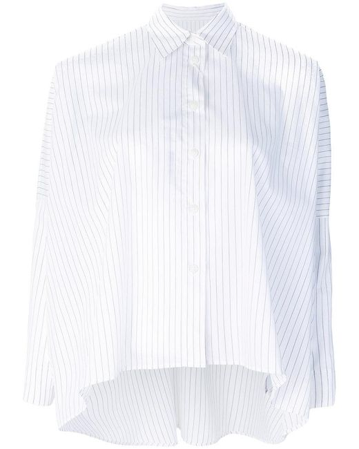 MM6 by Maison Martin Margiela - White Classic Shift Blouse - Lyst