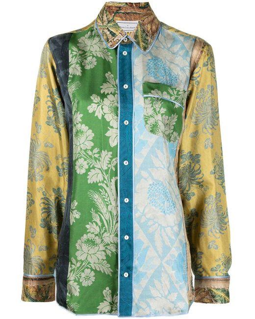 Camisa bordada Pierre Louis Mascia de color Green