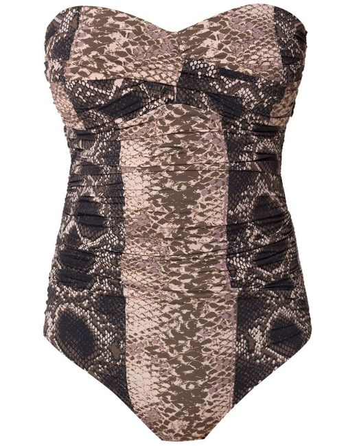 Sleeveless Swimsuit Amir Slama, цвет: Brown