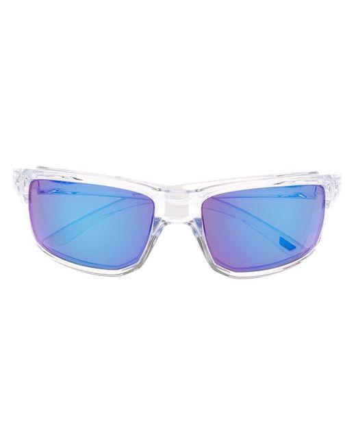 メンズ Oakley Gibson スクエアフレーム サングラス Blue