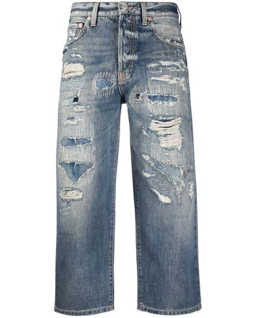 Givenchy クロップド ストレートジーンズ Blue