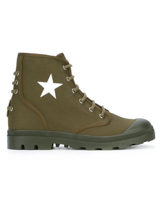Givenchy | Green Star Sneaker Boots for Men | Lyst