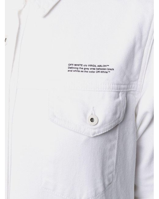 Off-White c/o Virgil Abloh ベルテッド シャツ White