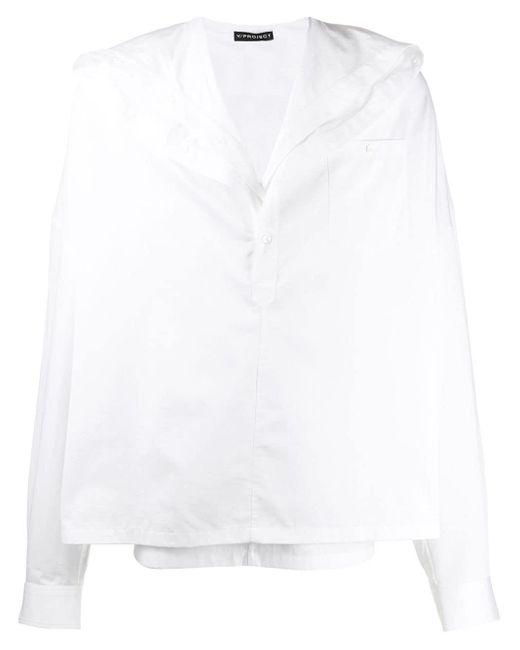 Camicia con colletto alla francese di Y. Project in White