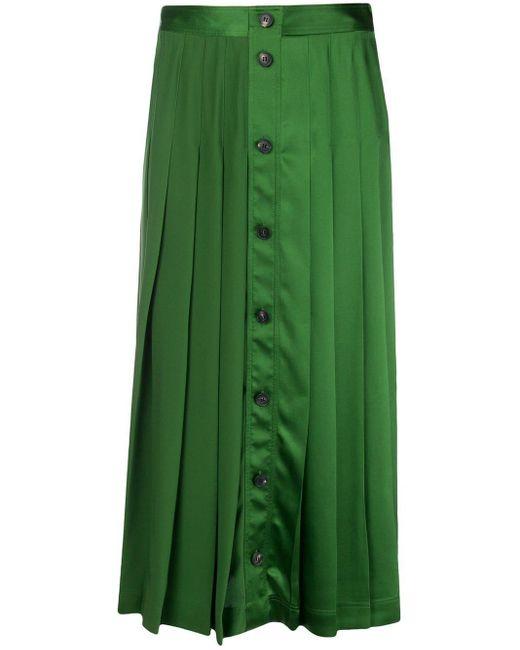 Victoria Beckham ボタン スカート Green