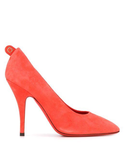 Ferragamo ロゴ パンプス Red