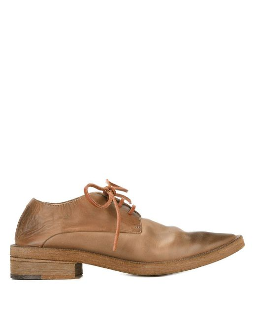 Marsèll Brown Pointed Toe Lace-up Shoes