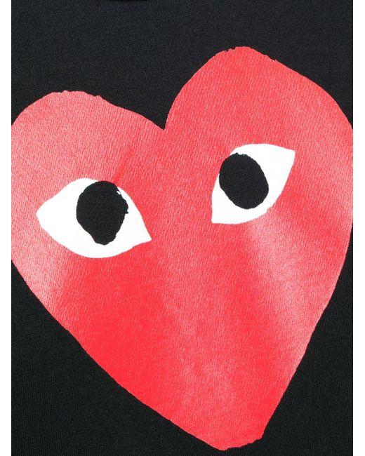 COMME DES GARÇONS PLAY ハートロゴ Tシャツ Black