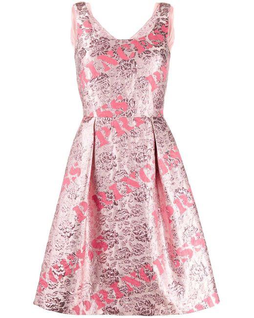 Moschino プリント フレアドレス Pink