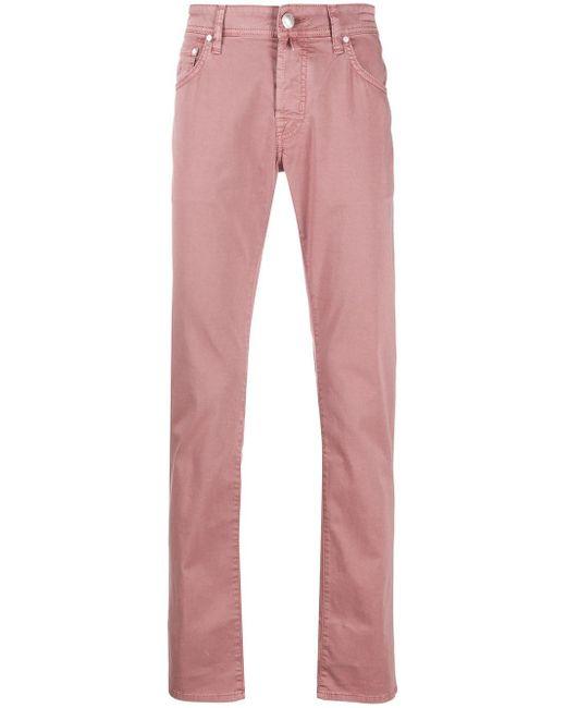 メンズ Jacob Cohen スリムパンツ Pink
