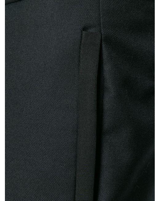 メンズ Thom Browne サティーン 4bar シルクタイピング トラウザー Black