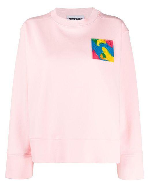 Moschino オーバーサイズ スウェットシャツ Pink