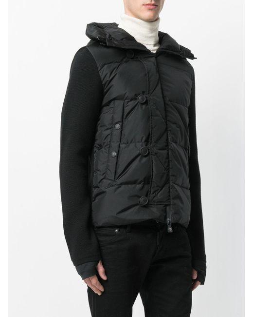 lyst moncler grenoble padded panel jacket in black for men. Black Bedroom Furniture Sets. Home Design Ideas