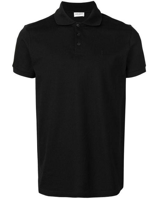 メンズ Saint Laurent ポロシャツ Black