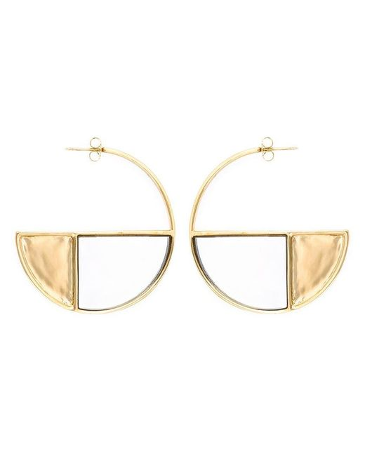 Aurelie Bidermann | Metallic 'bianca' Reversible Mirror Hoop Earrings | Lyst