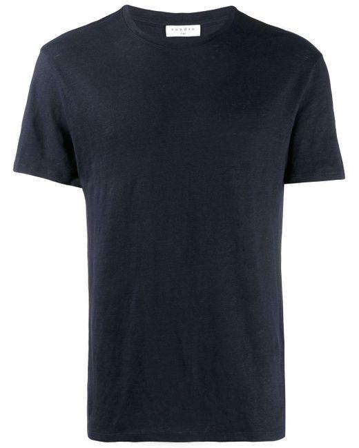 メンズ Sandro ラウンドネック Tシャツ Blue
