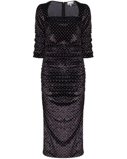 Ganni ポルカドット ドレス Black