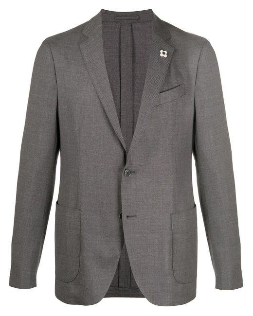 メンズ Lardini シングルジャケット Gray