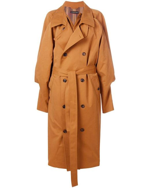 Y. Project - Brown Oversized Trench Coat - Lyst