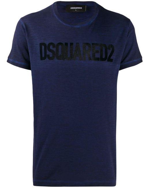 メンズ DSquared² タートルネック Tシャツ Blue