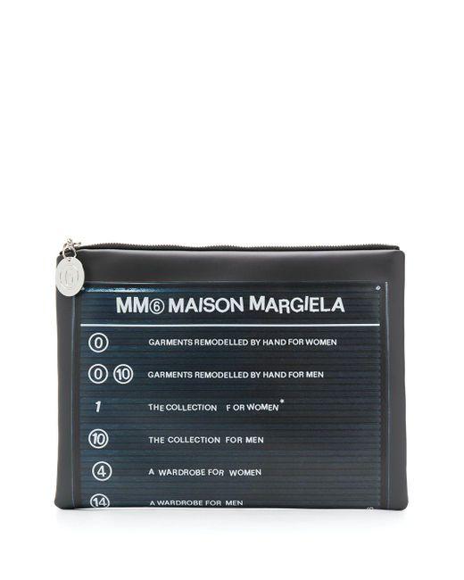 MM6 by Maison Martin Margiela ロゴ クラッチバッグ Black