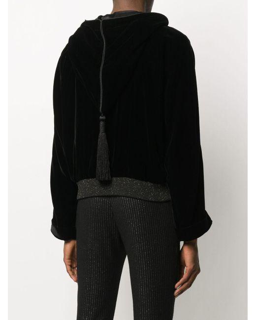 Бархатная Куртка Djellaba С Капюшоном Saint Laurent для него, цвет: Black