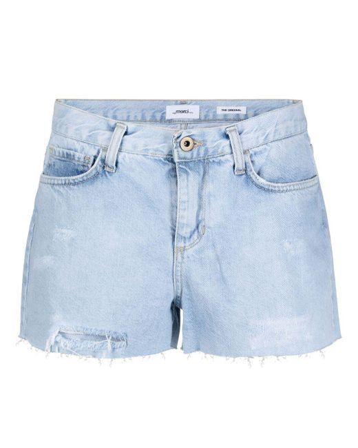 Shorts denim con effetto vissuto di ..,merci in Blue