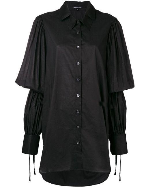 Ann Demeulemeester オーバーサイズ シャツ Black