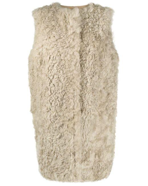 Cappotto smanicato di Yves Salomon in Gray