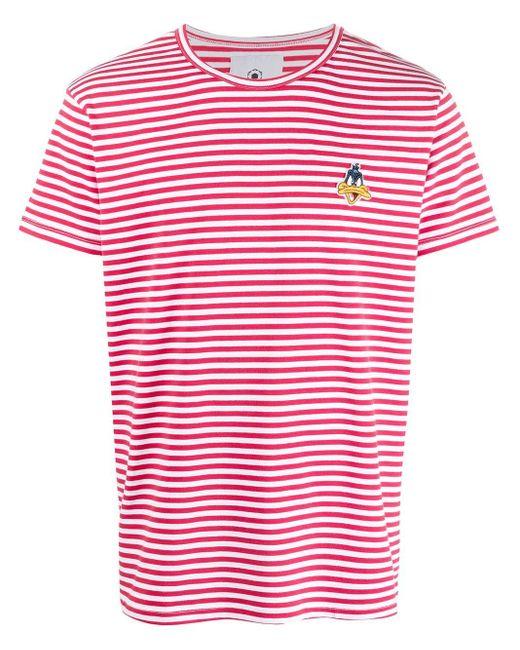 T-shirt Daffy Duck con ricamo di MOA in Red